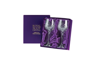 Royal Scot Crystal Kieliszki Highland do Wina Duże 2szt Pres.Box