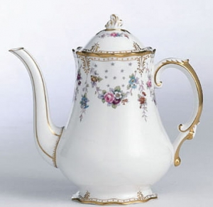 Royal Crown Derby Antoinette Imbryk na kawę 1,2l.