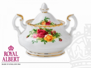 Royal Albert Old Country Rose Cukiernica z pokrywką 0,35l