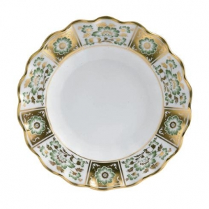Royal Crown Derby - Derby Panel Green Talerz Falsity 22cm