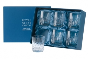 Royal Scot Crystal Szklanki Sapphire do Whisky 210ml 6szt.