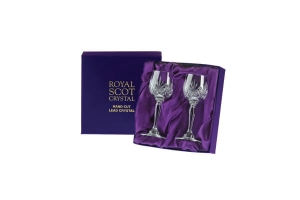 Royal Scot Crystal Kieliszki Highland do Sherry 2szt Pres.Box