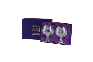 Royal Scot Crystal Kieliszki Highland do Brandy 2szt Pres.Box