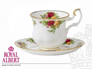 Royal Albert Old Country Rose Filiżanka Mocca ze spodkiem