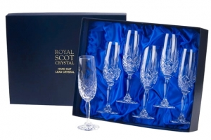 Royal Scot Crystal Kieliszki London do Szampana 6szt.