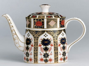 Royal Crown Derby Old Imari Imbryk do herbaty 1,2l.
