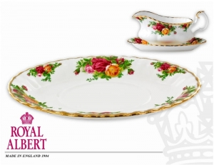 Royal Albert Old Country Rose Spodek pod sosjerkę