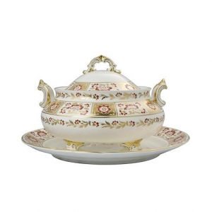 Royal Crown Derby - Derby Panel Red Podstawa pod Wazę 3,2l.