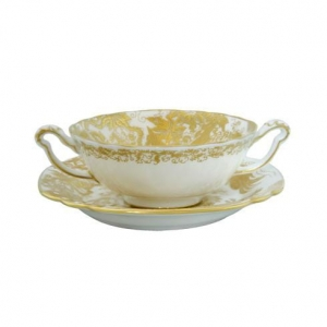 Royal Crown Derby Gold Aves Spodek do Bulionówki