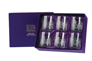 Royal Scot Crystal Szklanki Highland do Whisky 330ml 6szt Pres.B